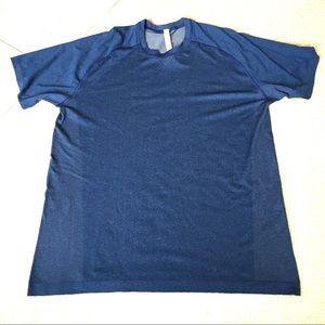 Lululemon Metal Vent Tech Blue Short Sleeve -XL